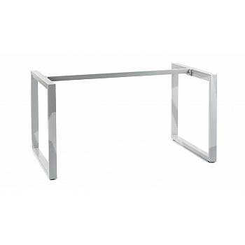 Metal table and desk frame with O type legs 139,6x79,6 cm