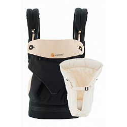 ERGOBABY carrier with insert for newborn 360 black / camel