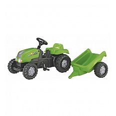 Rolly Toys Kid-X Tractor and Trailer Ride On - Green