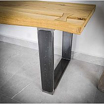 Table leg KVADRO 40x45cm steel effect