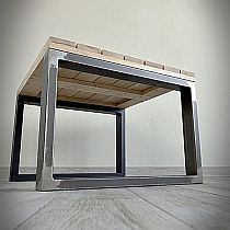 Table leg KVADRO 60x40cm steel effect