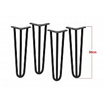 Four pcs. decorative metal legs Ø10 bar, height 30 cm