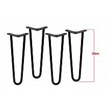 Four pcs. decorative metal legs Ø10 bar 2 pcs., height 30 cm