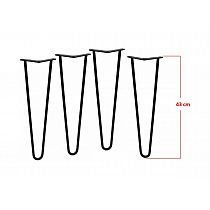 Four pcs. decorative metal legs for table Ø12 bar 2 pcs., height 43 cm