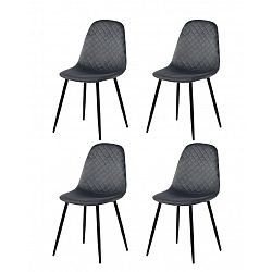 Restaurant chairs 4 pcs. gray (6001)