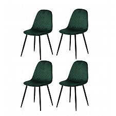 Restaurant chairs 4 pcs. moss green (6001)
