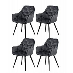 Restaurant chairs 4 pcs. with armrests in gray (9220)