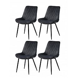 Restaurant chairs 4 pcs. gray (6020)