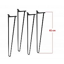 Four pcs. decorative legs Ø10 bar, height 61 cm