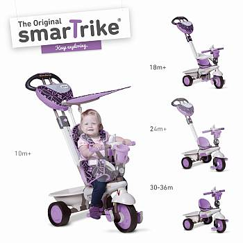 Smart Trike trīsritenis violets Dream 4 in 1